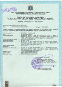 Surat Daftar Usaha Biro Perjalanan Wisata